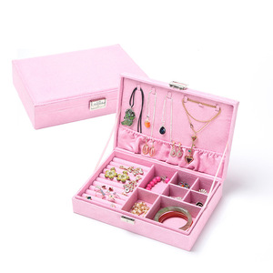 Image 5 - جديد نوع الفانيلا صندوق مجوهرات الكورية نمط حلقة أقراط صندوق تخزين موضة جميلة الأميرة صندوق مجوهرات هدية عيد ميلاد لفتاة