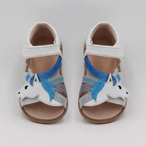 Image 5 - Tipsietoesトップブランドユニコーンソフトレザー夏新女の子子供裸足シューズキッズサンダル幼児1 12歳