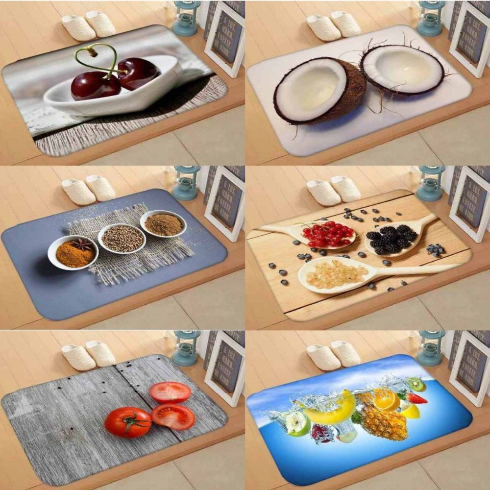 Else Wood On Red Spices Tomato Fruits 3d Digital Print Modern Decorative Floor Door Mat Home Decor Entryway Kitchen 50x80cm