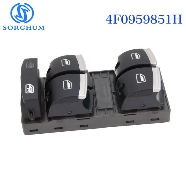 Sorghum New 4F0959851H Chrome Master Window Switch For Audi A3 8P A4 S4 RS4 B6 B7 A6 S6 RS6 C6 Q7