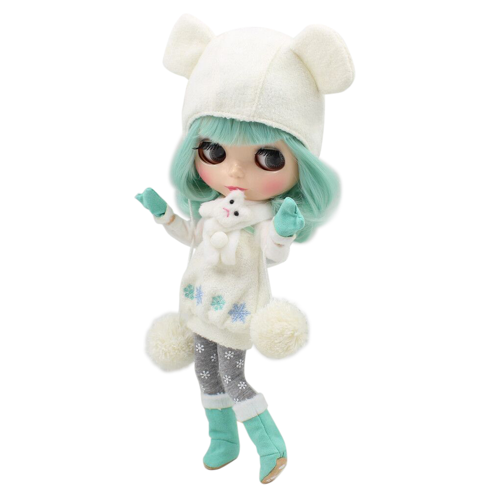 Fortune Days Nude Blyth doll No BL4006 Mint hair with bangs JOINT body Flesh color skin