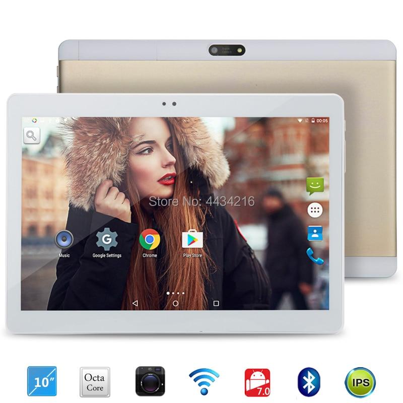2018 Nouveau 10 pouce Octa Core 3g Appel Téléphonique Android 7.0 Tablet 4 gb RAM 32 gb ROM IPS wiFi 9 10.1 tablet pc