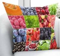 Ev ve Bahçe'ten Yastık Kılıfı'de Başka bir Karışık Patchwork Renkli Meyve Retro Mutfak 3D Baskı Sandalye Atmak Yastık Kılıfı minder örtüsü Kare Gizli Fermuar 45x45 cm