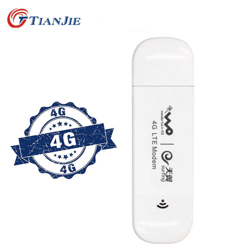 TIANJIE 4G USB modem netwerk dongle universele unlocked 4G lte Band 3 usb modem 4G netwerk adapter stok met sim card slot