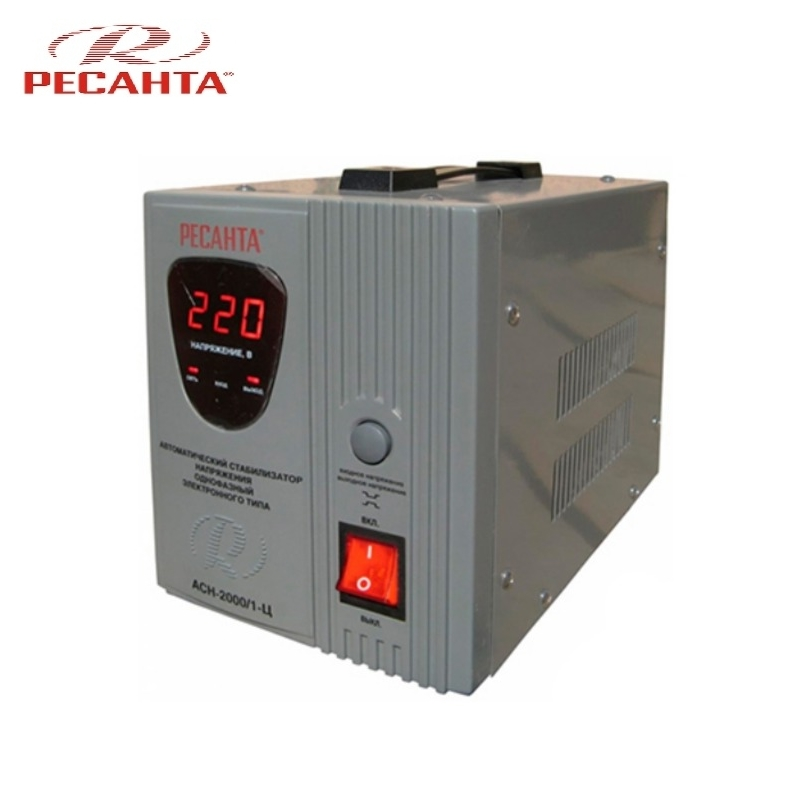 Single phase voltage stabilizer RESANTA ASN-2000/1-C Relay type Voltage regulator Monophase Mains stabilizer Surge protect svr 1kva single phase high accuracy full automatic ac relay type voltage stabilizer