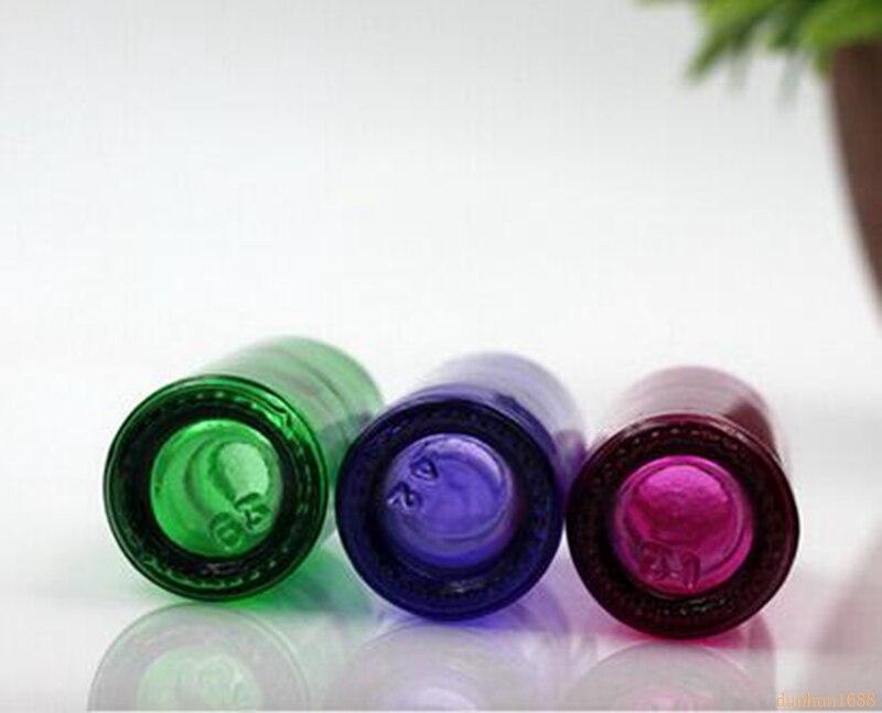 Dikke 600 stks/partij 10 ml Kleurrijke Reizen Glas Kleine Lege Aromatische Geur Fine Mist Spray Parfum Navulbare Fles Verstuiver #4 - 3