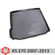 Для BMW X5 E70 2007-2013 багажника коврик багажного отделения коврики Нескользящие полиуретан грязь защиты багажник Тюнинг автомобилей