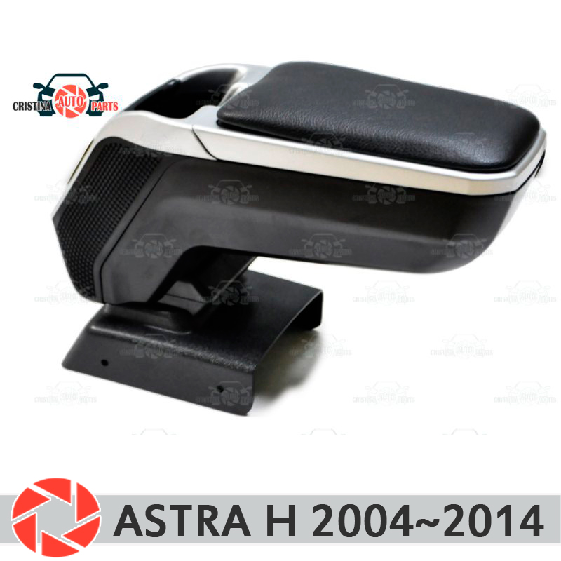 Armrest for Opel Astra H 2004~2014 car arm rest central console leather storage box ashtray accessories car styling m2 for opel astra h 2004 2014 car armrest with inner storage box black color poah56