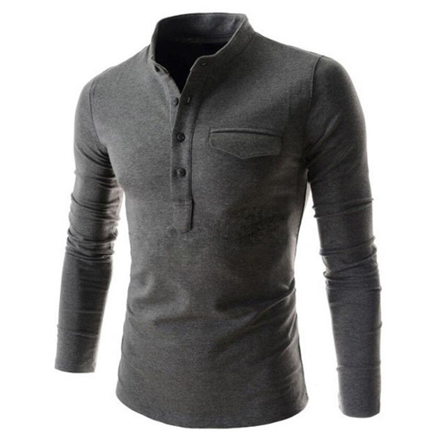 Mens Polo Shirt 2017 Autumn Fashion Brand 6 Colors Casual  Mens Polo Sweaters Simple Style Cotton Knitted Long Sleeve Pullovers