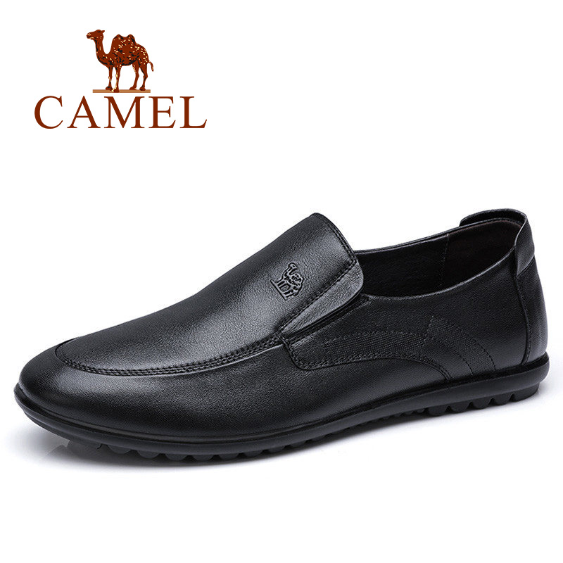 CAMEL High Quality Genuine Leather Shoes Men Business Male Loafers Casual Leather Soft Comfortable Flats for Men Footwear djsunnymix brand handmade 2017 casual male shoes adult for men genuine leather breathable soft quality comfortable footwear