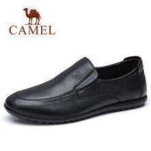Unta Kualitas Tinggi Kulit Asli Sepatu Pria Bisnis Pria Sepatu Kulit Kasual  Lembut Nyaman Datar untuk 3c00916fca