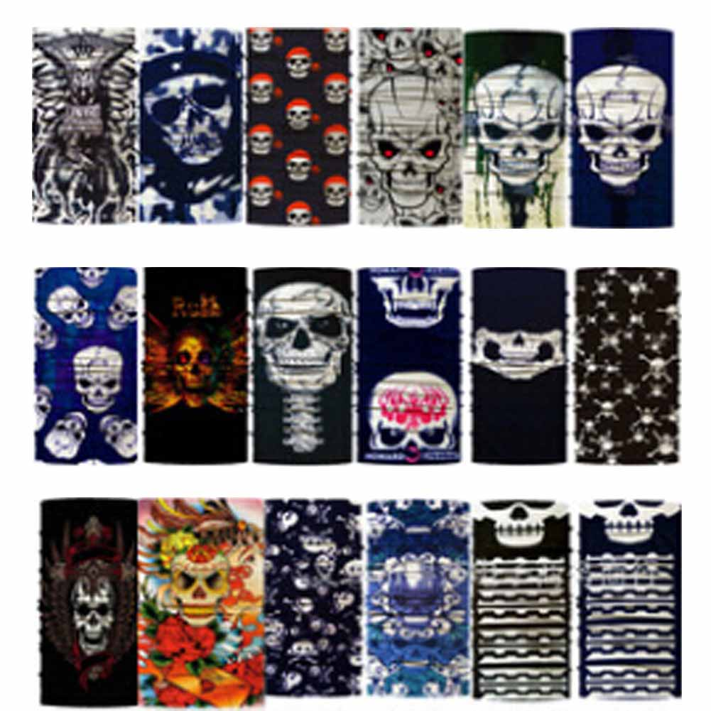 Fashion Style Color Random Variety Turban Magic Headband Veil Multi Mask Cap Head Scarf Scarves Face Mesh Skull Bandanas