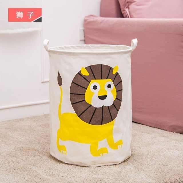 New linho Algodão À Prova D' Água dobrável Cesto de roupa Suja caixa de Armazenamento de roupas Crianças Organizador Do Brinquedo ferramenta de armazenamento organizador
