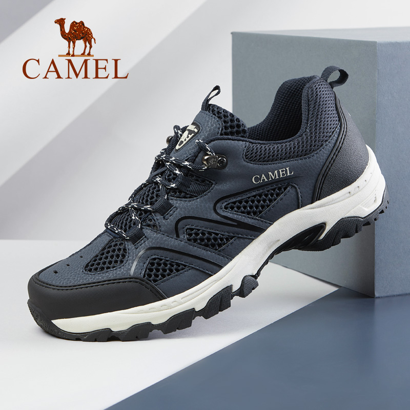 CAMEL New Men Outdoor Mesh Hiking Shoes Durable Net Surface Breathable Boots Training Sneakers Anti Slip
