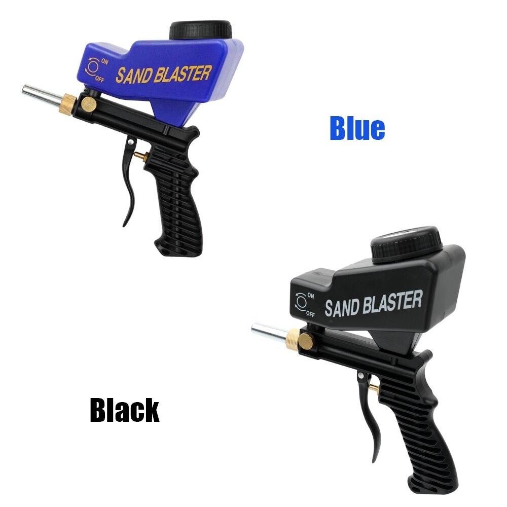 Anti ruggine Protezione di sabbia blaster macchina Salva inutili Materiale di superficie Regolare sabbiatura scorre cambiamento ugelli Pistola A Spruzzo