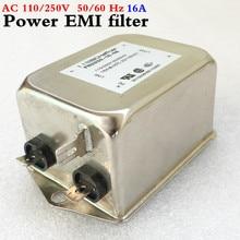 Бывшие в употреблении SCHaffner однофазный Мощность фильтр EMI AC 115 В/250 В 16A 50/60 Гц для аудио декодер amplifeir