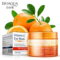 Moisturizing Ageless Under Eye Dark Circle Remover Orange Eye Mask Black Eye Patch 36 Sheets Bottle