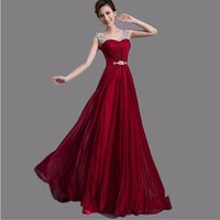 2017 Hot Elegant Long Beautiful Formal Mother Of The Bride Dresse Kaftan Red Wine Purple Green