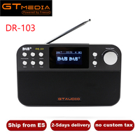 Portable Radio GTMedia DR 103B Digital FM Radio DAB+Radio Stero For UK EU With Bluetooth Built in Loudspeaker Support TF Card