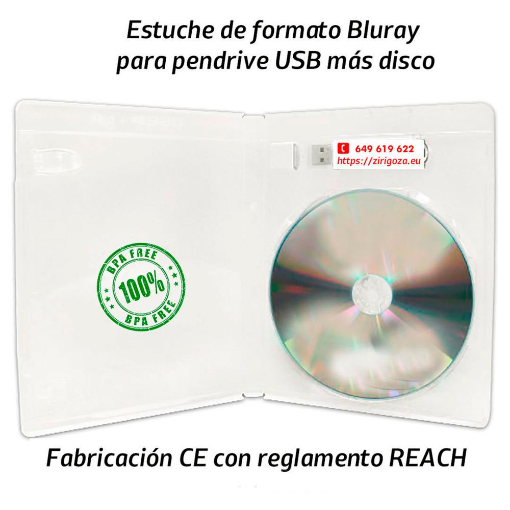 50 cas format Boîte Blu Ray pour USB flash drive for power intégrer un disque format CD, DVD ou Blu Ray Dto. -60%