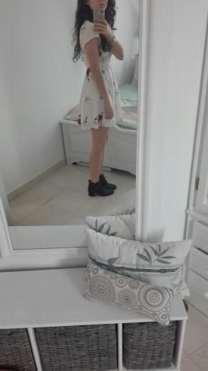 Бонгора лусс Для женщин летнее платье 2017 v-образным вырезом мыс короткий рукав Повседневное мини-платье Бохо пляжные Vinatge Цветочный принт платье Сарафан