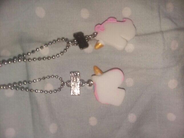 2Pcs/Set Unicorn Pendant Necklaces Chain For Children photo review