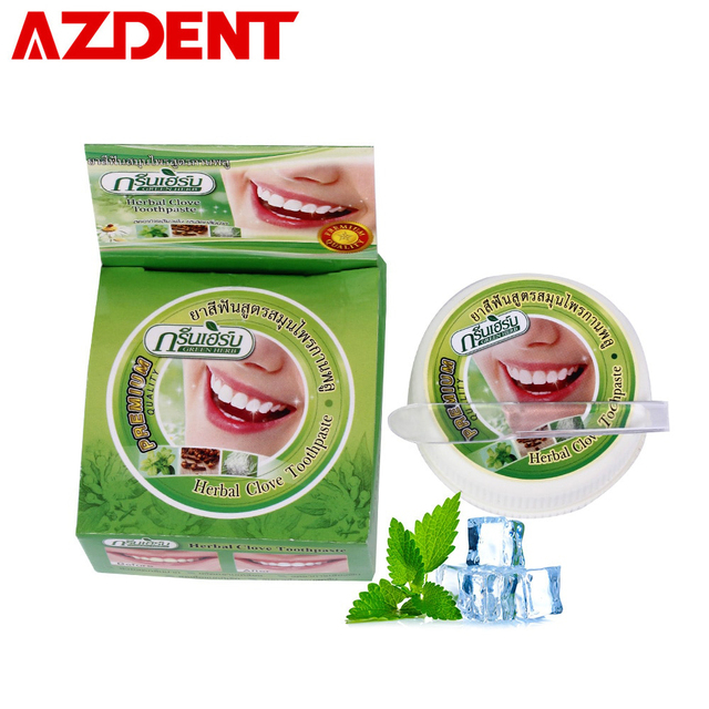 10g/25g Herb Mint Tooth Whitening Toothpaste Natural Herbal Clove Tooth paste Dentifrice Remove Stain Antibacterial Allergic Gel