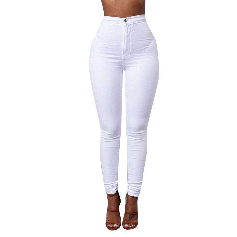 2017 Calca Jeans Feminino Casual Elastic High Waist Jeans Stretch Pencil Pants Skinny Jeans Woman Slim Denim  Lady Trousers denim pants high waist stretch slim pencil jeans women plus size capri pants elastic waist thin skinny jeans woman summer 2017
