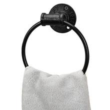 Ретро настенные круглые Вешалки для полотенец украшения ванной комнаты