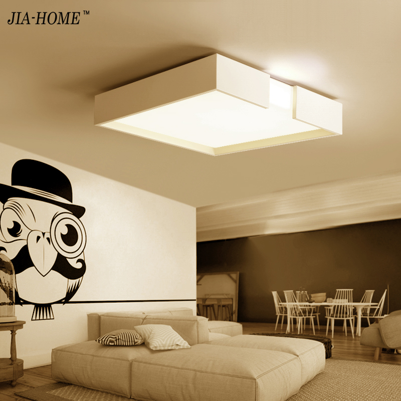 Modern Led Ceiling Lights For Indoor Lighting plafon led Square Ceiling Lamp Fixture For Living Room Bedroom Lamparas De Techo new modern led ceiling lights for living room bedroom plafon home lighting combination white and black home deco ceiling lamp