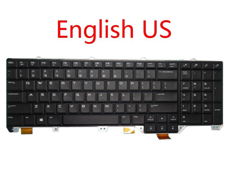 New keyboard For Alienware 17 R1 M17X R5 08W1R1 Germany GR 02YP0N France FR 05T5DR 0140W5 Japan