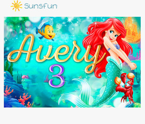Image 2 - Sunsfun 7x5FT خلفية صورة مخصصة للاستوديو خلفية من الفينيل للأميرة الصغيرة حورية البحر والصخور والشعاب المرجانية
