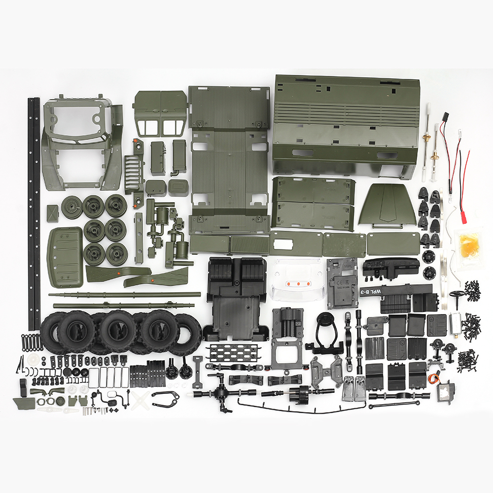 WPL B36 Military Truck KIT 1:16 Ural RC Truck DIY Set 2.4G 6WD Rock Crawler Command Communication Vehicle KIT Toy for Boys willys jeep 1 10