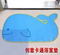 דולפין קריקטורה מחצלת PVC אנטי להחליק אמבט כוס יניקה עבור תינוק אסלת ילד מחצלות אמבטיה שטיח רצפה 40*70 ס