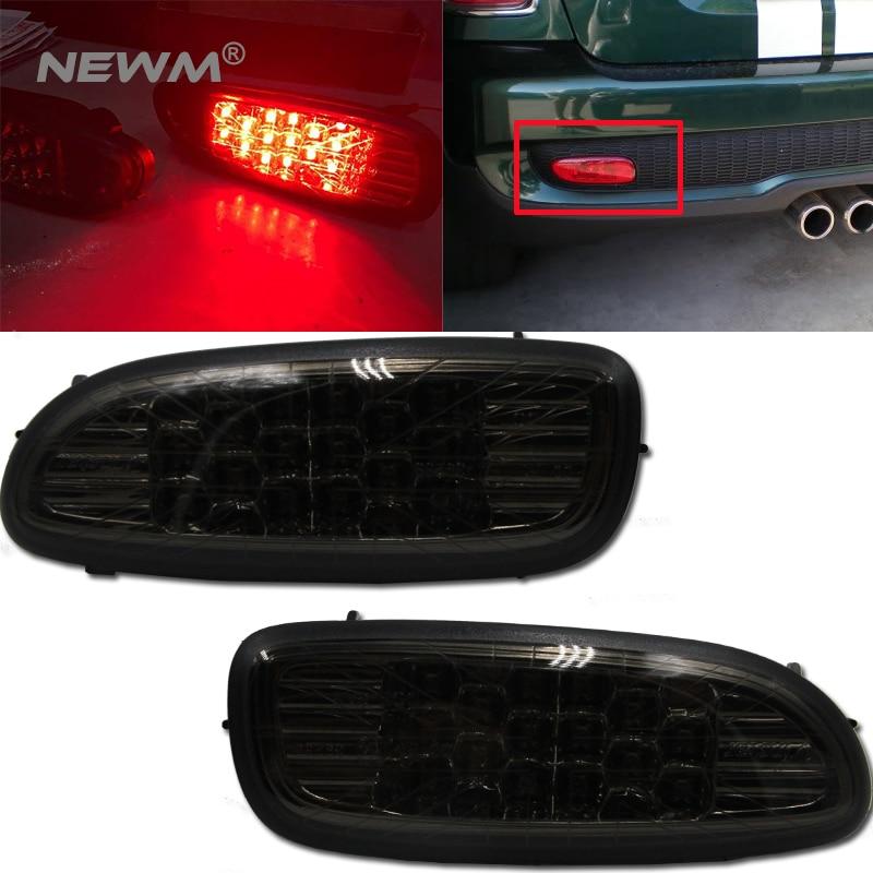 Black Jack Black LED Rear Bumper Fog Lights Lamp For 06 09 MINI COOPER R56 R57