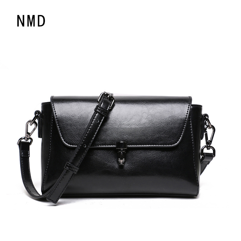 NMD Lovely Girl Cowhide Small Crossbody Bag Women Messenger Bags Genuine Leather Lady Bag Famous Brand top sale Shoulder Bag new brand genuine leather women bag fashion retro stitching serpentine quality women shoulder messenger cowhide tassel small bag