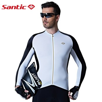 Santic spexcel Men Long Sleeve Cycling Jerseys Extreme Fit Anti-sweat Road Bike MTB Cycling Jersey Cycling Clothings M7C01076