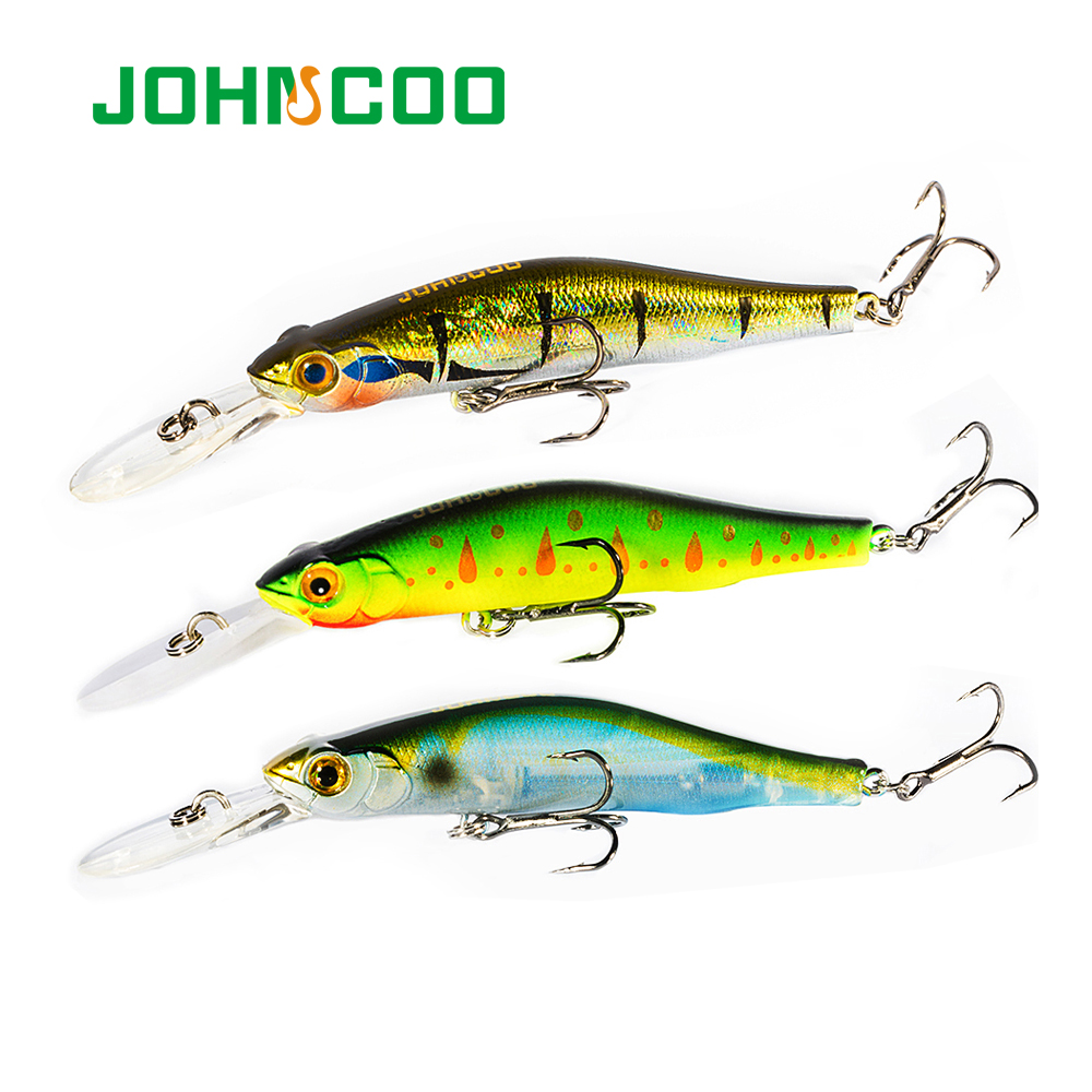 JOHNCOO Orbit 80SP-DR Hard Minnow Fishing Lure Hard Bait Wobblers for Deep Dive 80mm 9.5g High Quality Fishing Bait Wobbler