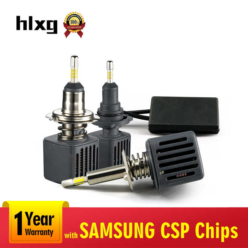 hlxg All 4 sides LED H7 with SAMSUNG CSP Chips H4 Headlight Bulbs 12V H1 9005 HB3 H11 H8 9006 HB4 Bulbs Car lights 40W 10000ML