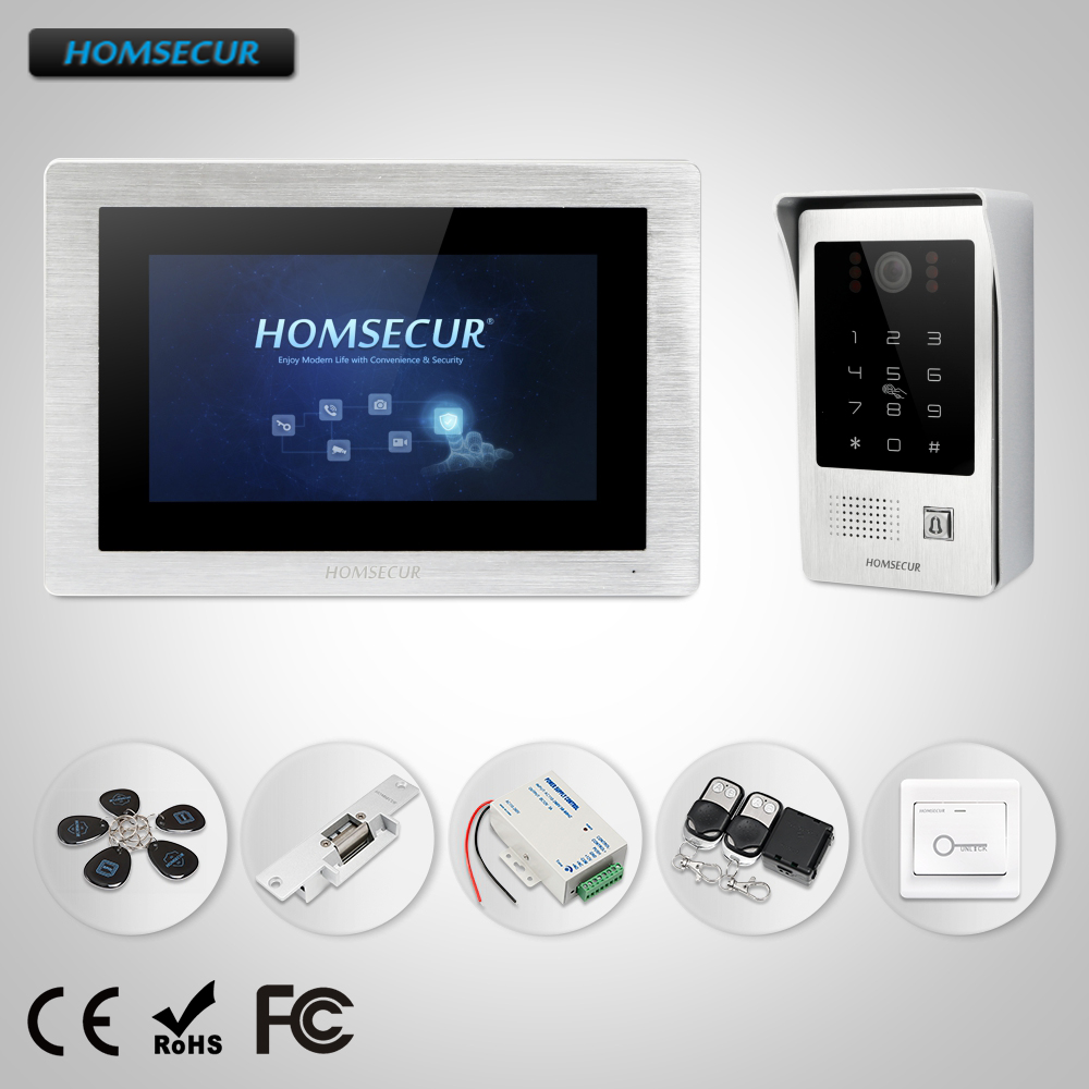HOMSECUR 7 Video Door Phone Intercom System with Password Access+Outdoor Camera available for DIY  BC091 + BM714-SHOMSECUR 7 Video Door Phone Intercom System with Password Access+Outdoor Camera available for DIY  BC091 + BM714-S