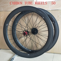 GANT 50mm Tubular Carbon Wheel Set for 10/11 Speed SRAM/Shimano Road Bike Wheels 700C