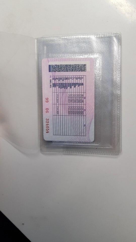 Plastic Transparante Binnenpagina's Zak voor Russische Rijbewijs Licentie Cover Gevouwen Film Wit-Rusland Documenten Creditcardhouder photo review