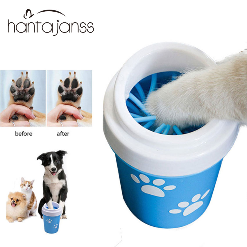 Dirty Paw Washer for Small Large Dogs Pet Feet Washer Portable Pet Grooming Brush Dog Dirty