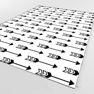 Else Black Arrows Geometric Aztec Scandinav 3d Print Non Slip Microfiber Living Room Decorative Modern Washable Area Rug Mat