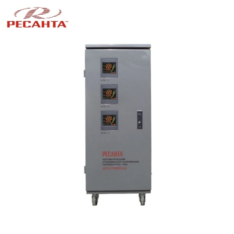 все цены на Three phase voltage stabilizer RESANTA ASN 15000/3C Triphase Voltage regulator Monophase Mains stabilizer Surge protect онлайн