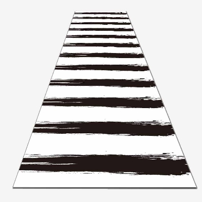 Else Black White Border Lines Geometrics 3d Print Non Slip Microfiber Washable Long Runner Mat Floor Mat Rugs Hallway Carpets