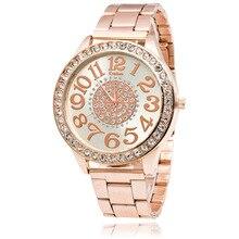 Kanima брендовые модные золотые кварцевые часы Для женщин часы Нержавеющаясталь платье Часы Relogio feminino подарок часы Montre Femme Saat