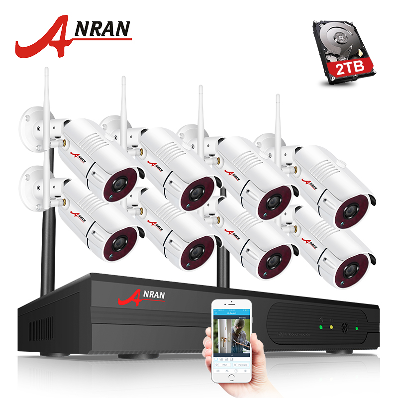 ANRAN Security Camera System Wifi 8CH NVR With 1080P HD Outdoor Night Vision CCTV Camera Video Surveillance System