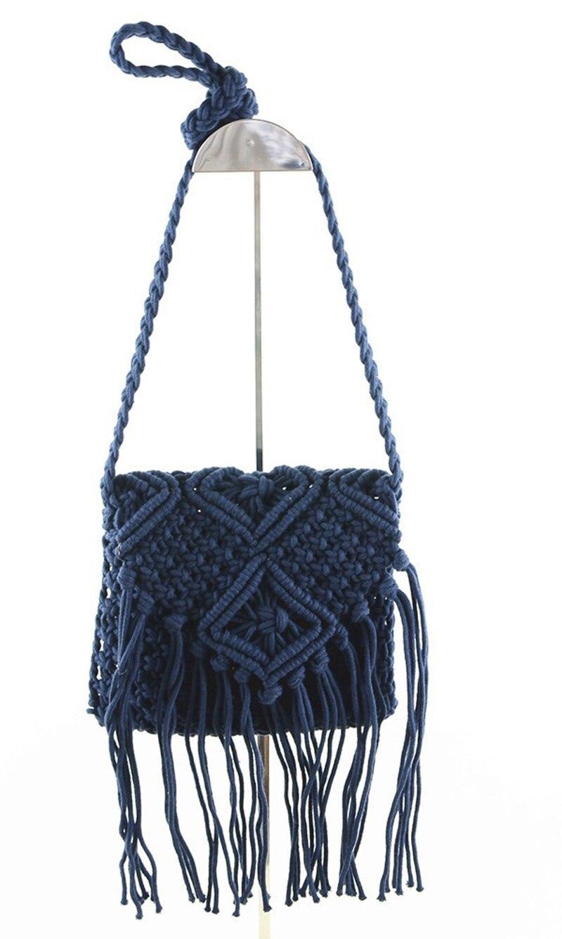 Handbag Two Side Tassel Single Shoulder Bag Women Phone Bag Leisure Crossbody Bags tassel decor crossbody bag