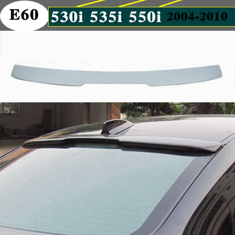 ABS A Look Rear Roof Spoiler Wing Unpainted For 04~10 BMW 5 series E60 Sedan